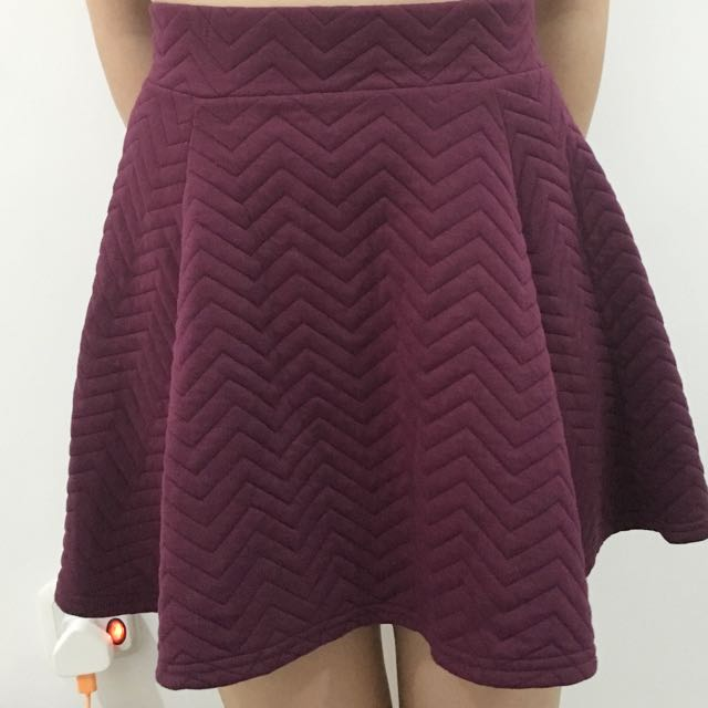 H&M Purple Skater Skirt