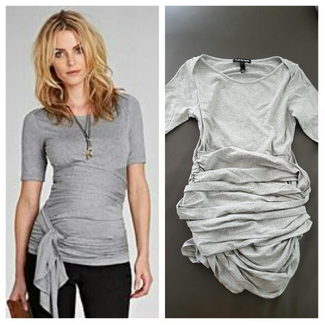 675c1b90baa Isabella Oliver Ruched Wrap Maternity Tee
