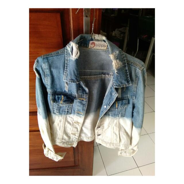 Jaket Denim Ombre Hippie