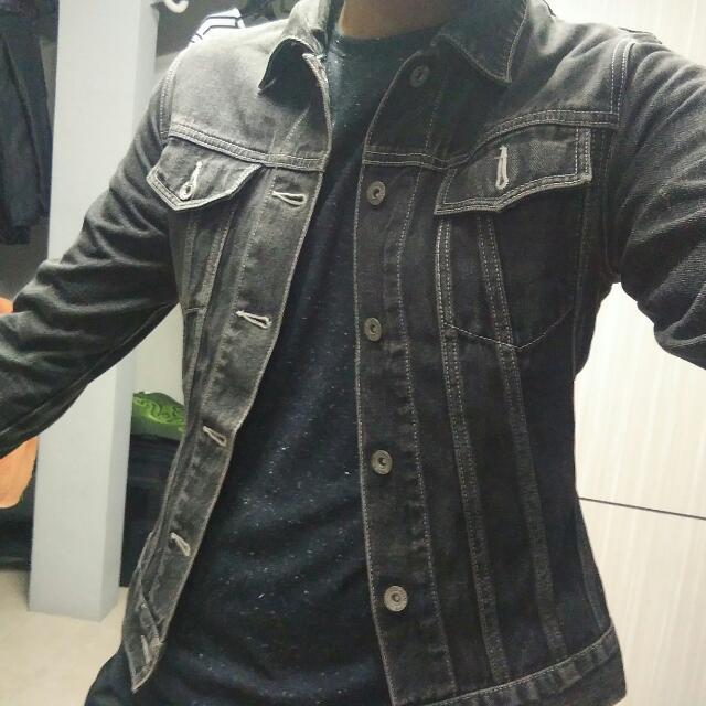 Jaket Jeans Trucker Black size M