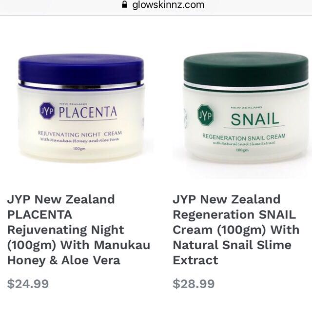 JYP New Zealand Regeneration SNAIL Cream (100gm) With Natural Snail ...
