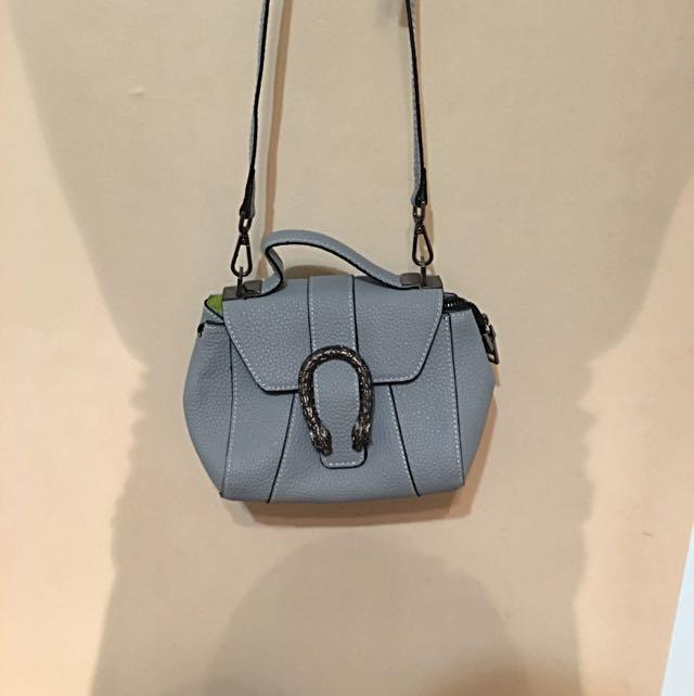 Light Blue Cute Crossover Bag