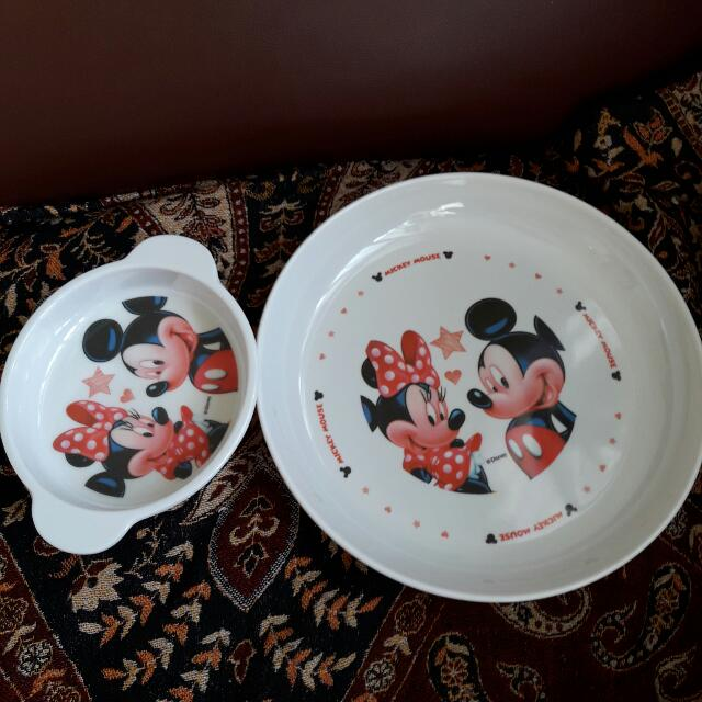 Mickey Plate And Bowl