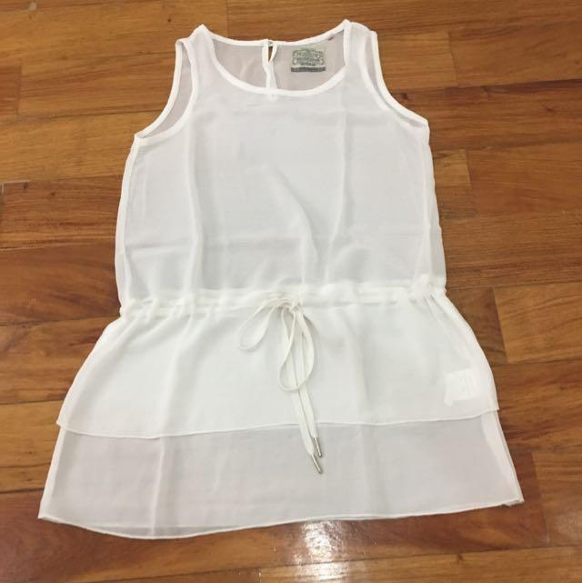 Mossimo Chiffon Tie-waist Top (white)