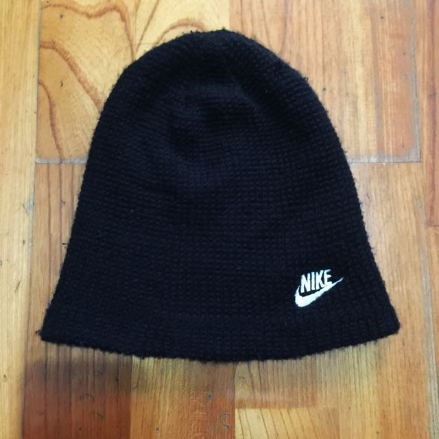 Nike 黑編織毛帽 #運費我來出