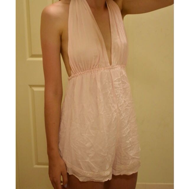 Pale Pink Beach Playsuit Size 8-12
