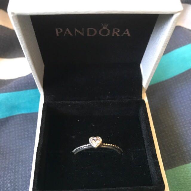 Pandora Pink Heart Ring
