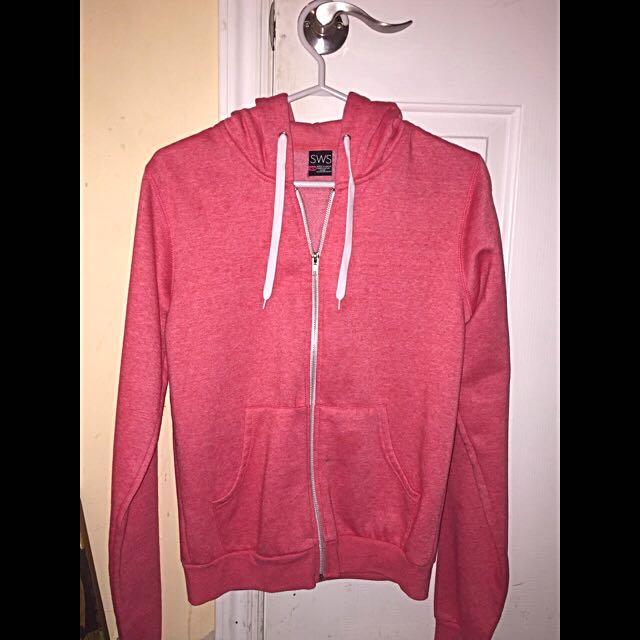 Pink SWS Zip Up Hoodie