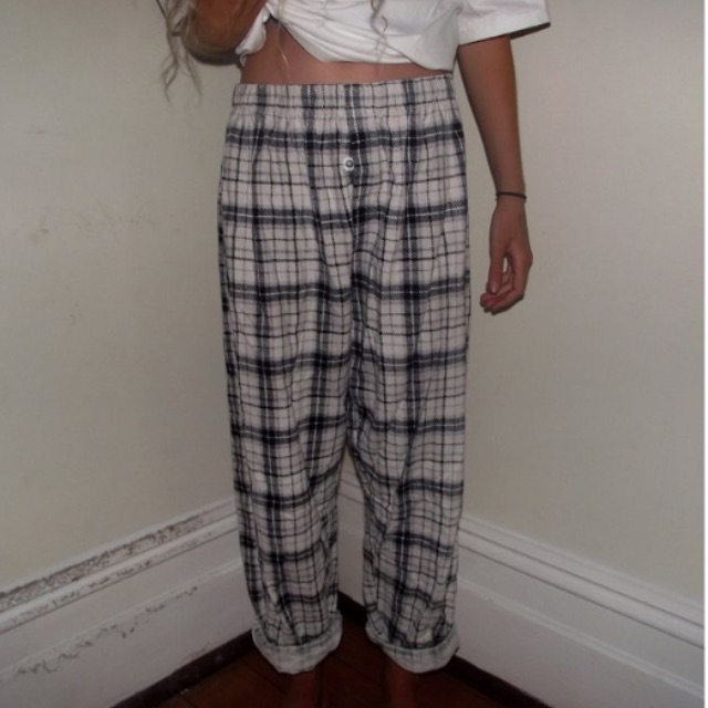plaid pyjama pants that are very comfortable yet look good enough to wear out!!