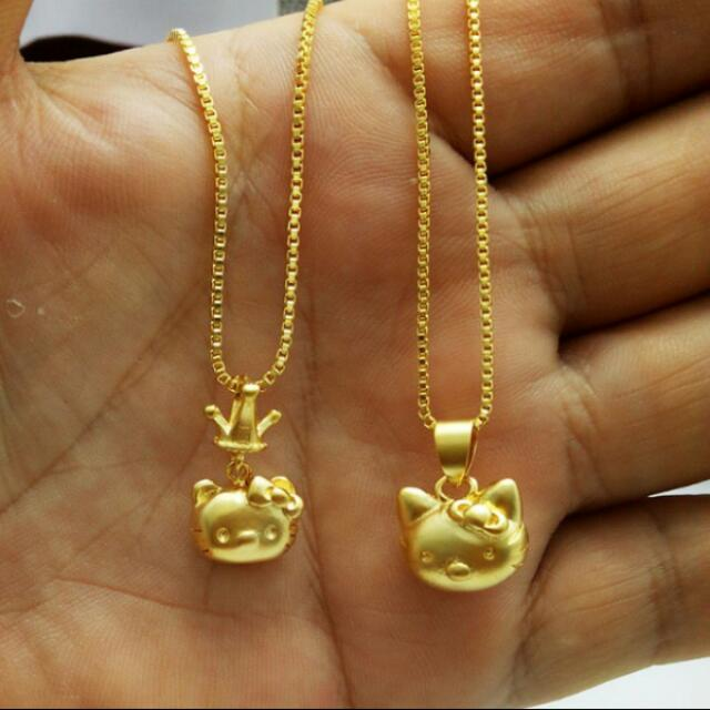 acf68f2c4 PO : Hello Kitty Cute Gold Plated Simple Allergy Free Pendant ...