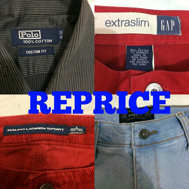 Promo Reprice Kemeja Polo Ori, Celana Jeans Authentic Murah