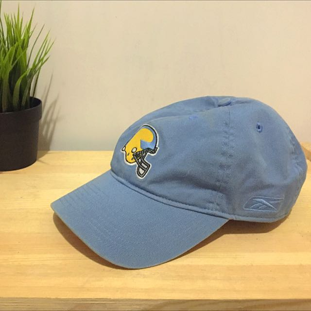 Reebok 電繡水藍老帽 橄欖球頭盔
