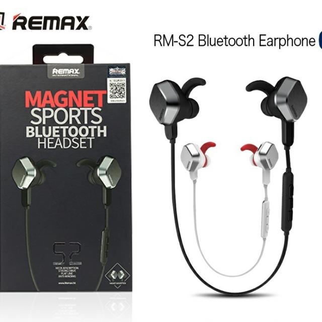 Remax S2 Magnet Sports Bluetooth Headset Mobile Phones Tablets Mobile Tablet Accessories On Carousell