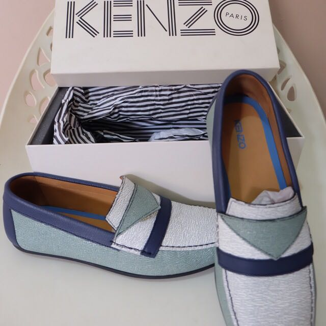 Re-price Preloved -KENZO Arthur Calf White Copper GR-
