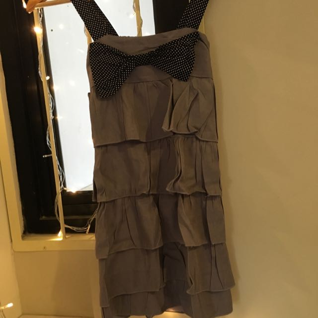 Ribbon Grey Dress