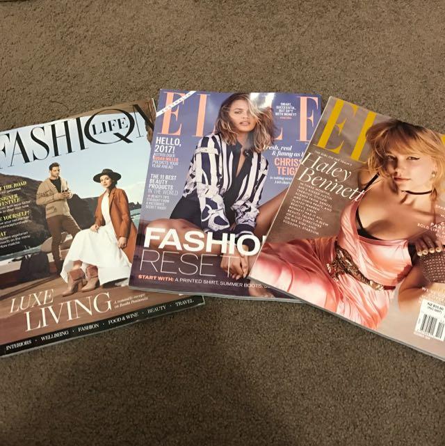Set Of 3 Fashion Magazines