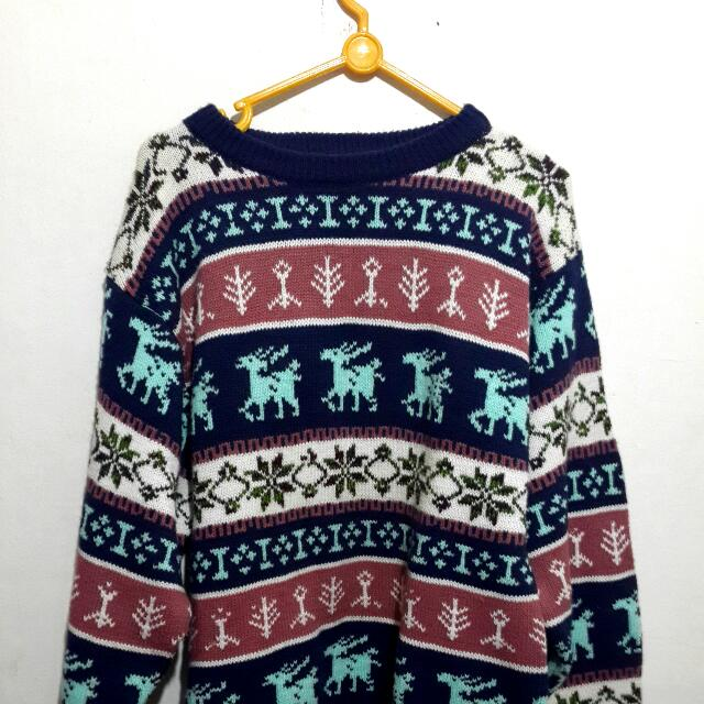 Sweater Tribal Dijamin Tebal