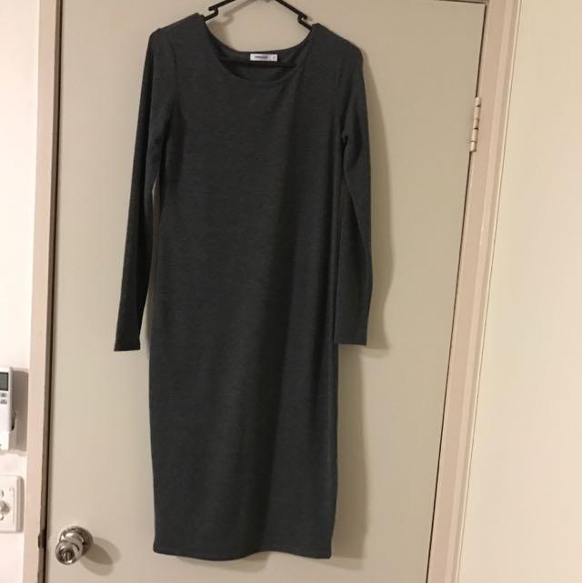 Tight Fitting Midi Dress