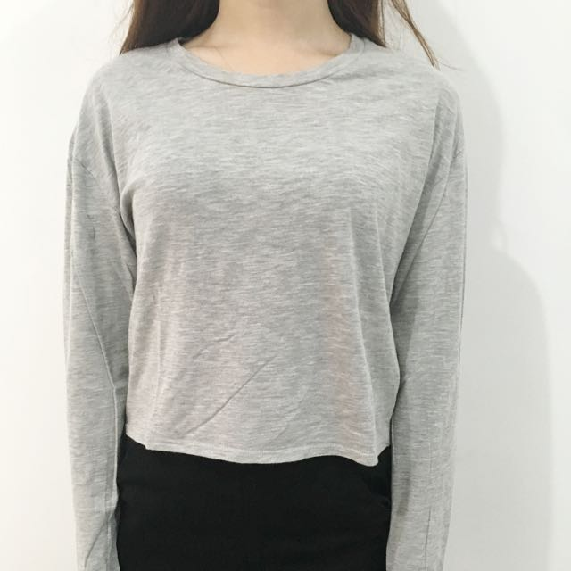 Topshop Cropped Tshirt Sweater