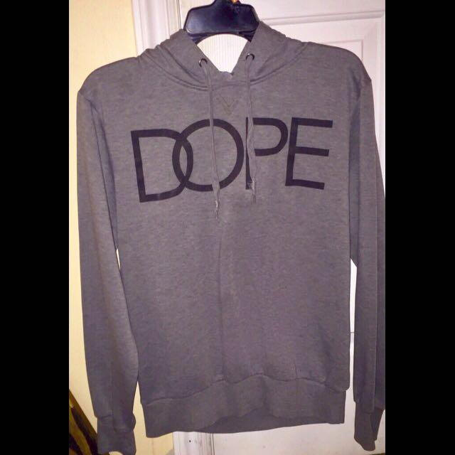 Urban Heritage grey Dope print graphic pullover hoodie