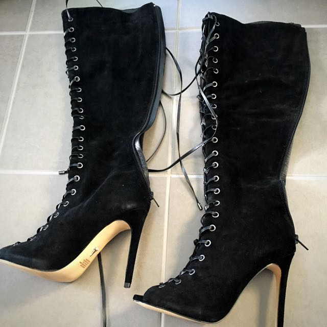 PRICE DROP: Windsor Smith Serenity Black Suede Boots FREE EXPEESS SHIPPING
