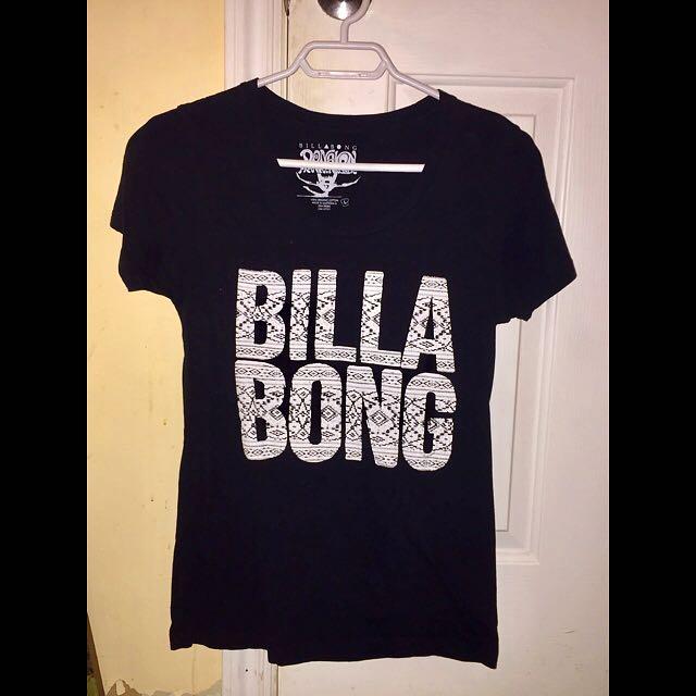 Woman's black Billabong t-shirt