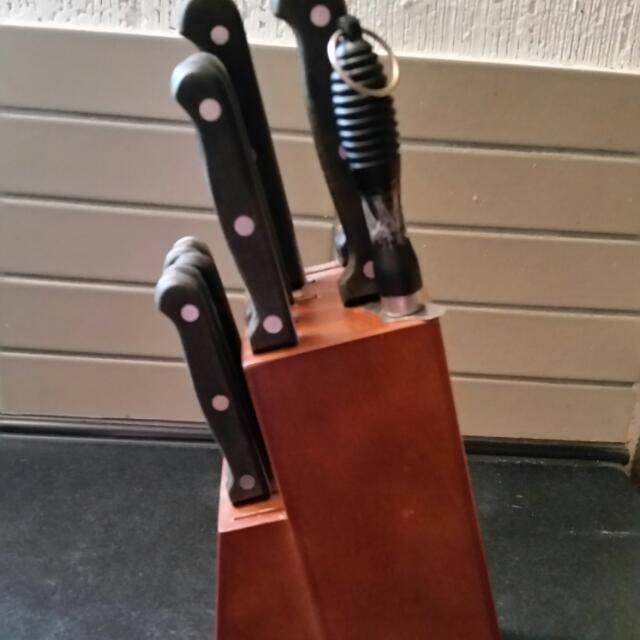 Wooden Knife Block Set