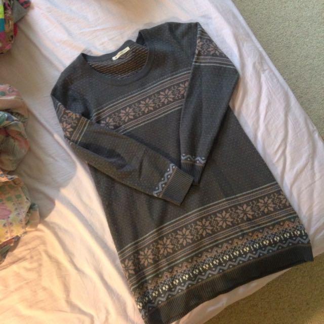 Woollen Sweater/ Shirt Dress