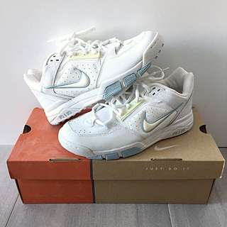 New Nike Air Sneakers In White And Baby Blue