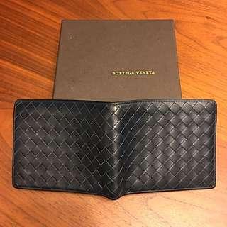 Bottega Veneta藍色八卡短夾