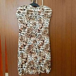 PEOPLE ARE PEOPLE Animal Print Dress