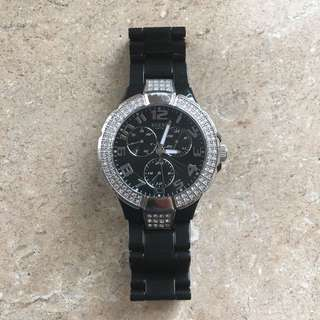 Black Guess Prism Watch