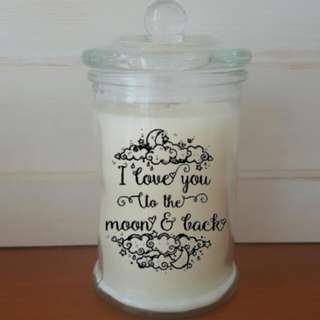 I Love You To The Moon & Back Candle