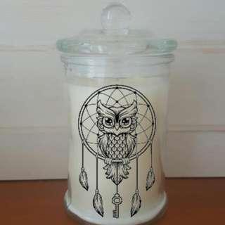 Owl Dream Catcher Candle