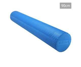 Yoga Gym Pilates EVA Stick Foam Roller Blue 90 x 15cm