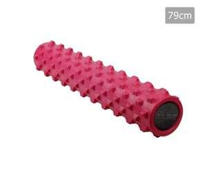 Yoga Gym Pilates EVA Stick Foam Roller Pink 79 x 13cm