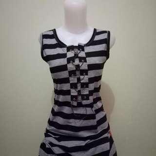 Stripe Dress Grey