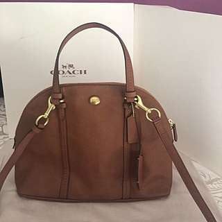 NWT COACH Peyton Link Cora Embossed Domed Satchel