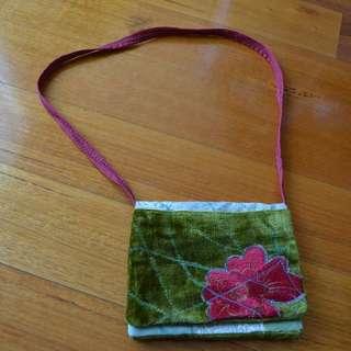 Small fabric handbag