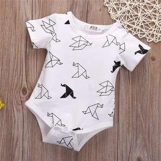 Baby Origami Birds Bodysuit