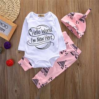 3pc Teepee Romper Set