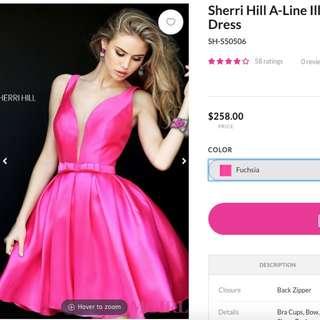 Sherri Hill Short V-Neck Dress