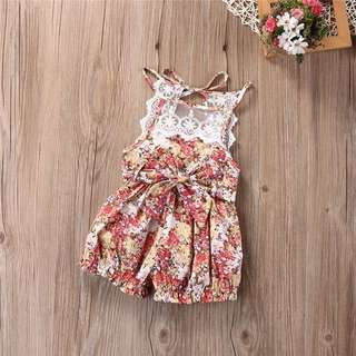 Floral Bow Romper