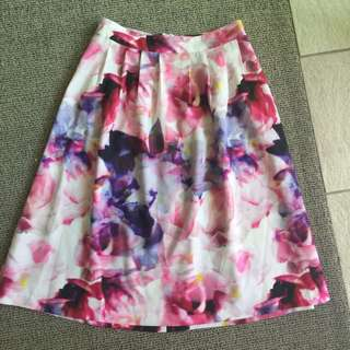 Tokito Corporate Wear Work Skirt 8 Floral A-line