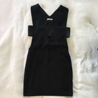 Black Dress With Side Cutouts Size S