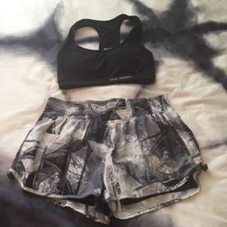 Blockout Crop & Shorts Small