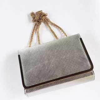 FREE ONGKIR‼️ Silver Shoulder Bag
