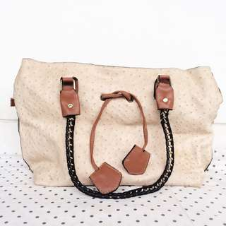 FREE ONGKIR‼️Pink / Cream Tote Bag