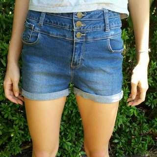 High Waisted Demin Shorts