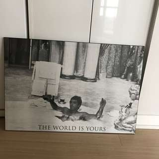 Scarface The World Is Yours Plaque Poster